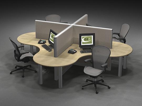 ชุด 4 มุมโต๊ะทำงาน